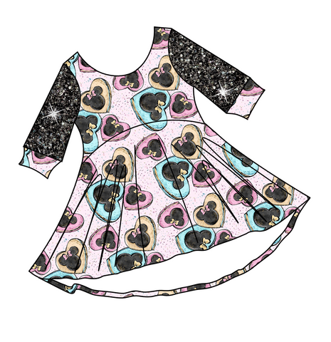 PREORDER-Be My Minni-tine-Luna Dress-Hearts