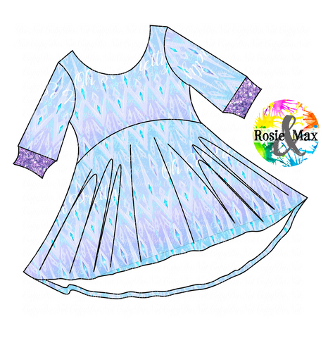 PREORDER-Ice Adventures- Elsa Dress Inspired-Luna Dress