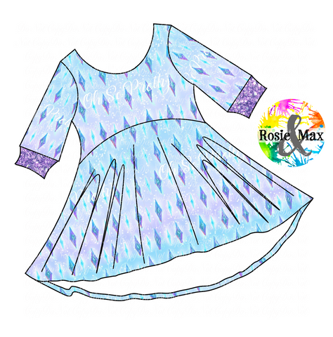 PREORDER-Ice Adventures- Elsa Diamonds-Luna Dress