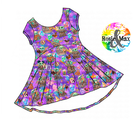 PREORDER-Snack Baby - Purple Tossed -Luna Tunic