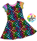 PREORDER- Spring/Summer - Watercolor Mouse - Black - Isla Dress-NO PANEL