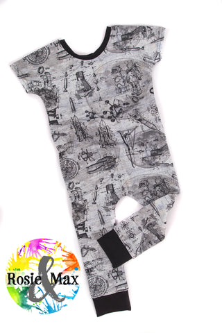 Space Rascal Romper-LONG/PANTS