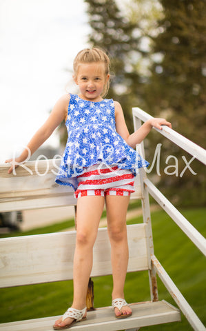 Stars and Stripes Bubble Shorts