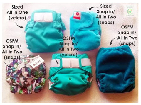 Styles of Modern Cloth Nappies