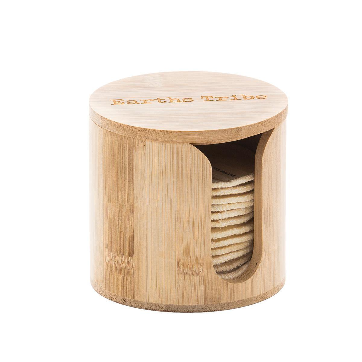 Earths Tribe | Bamboo Makeup Round Holder - Earths Tribe