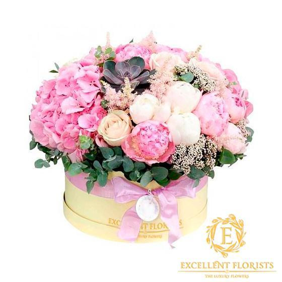 Pretty Pink Peonies & Hydrangea - Excellent Florists