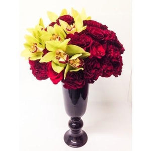 Orchids & Red Roses - Excellent Florists
