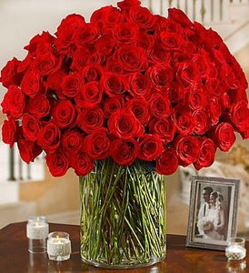 Love and Devotion (100 red roses) - Excellent Florists