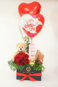 Bear,Red Roses & Chocolates - Excellent Florists
