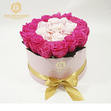 Large Round Pink Preserved Roses - Excellent Florists