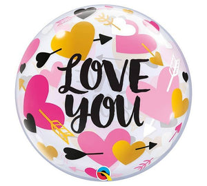 I love  You Bubble Balloons
