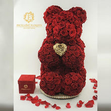 Load image into Gallery viewer, EVERLASTING ROSE BEAR 70 CM - Excellent Florists