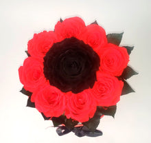 Load image into Gallery viewer, Christmas Preserved Red and Black Roses in a round box
