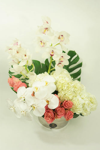 Orchids & White Hydrangeas - Excellent Florists