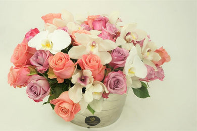 White Orchids & Roses - Excellent Florists