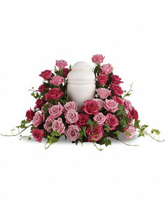Bed of Pink Roses - Excellent Florists