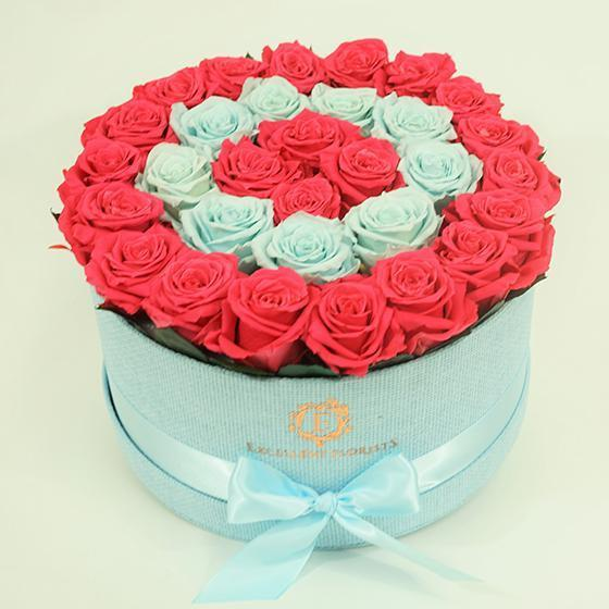 [CUSTOM] Bicolor Sky Blue and Pink Roses