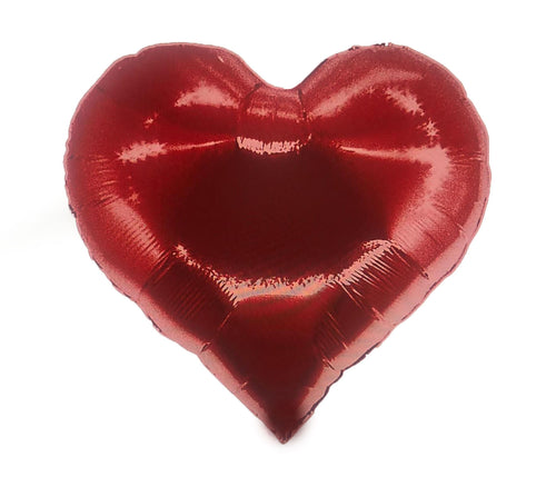 Bright red heart balloon