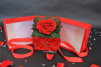 Open my heart | Red  box | Red Heart-Shaped Preserved Rose - Excellent Florists
