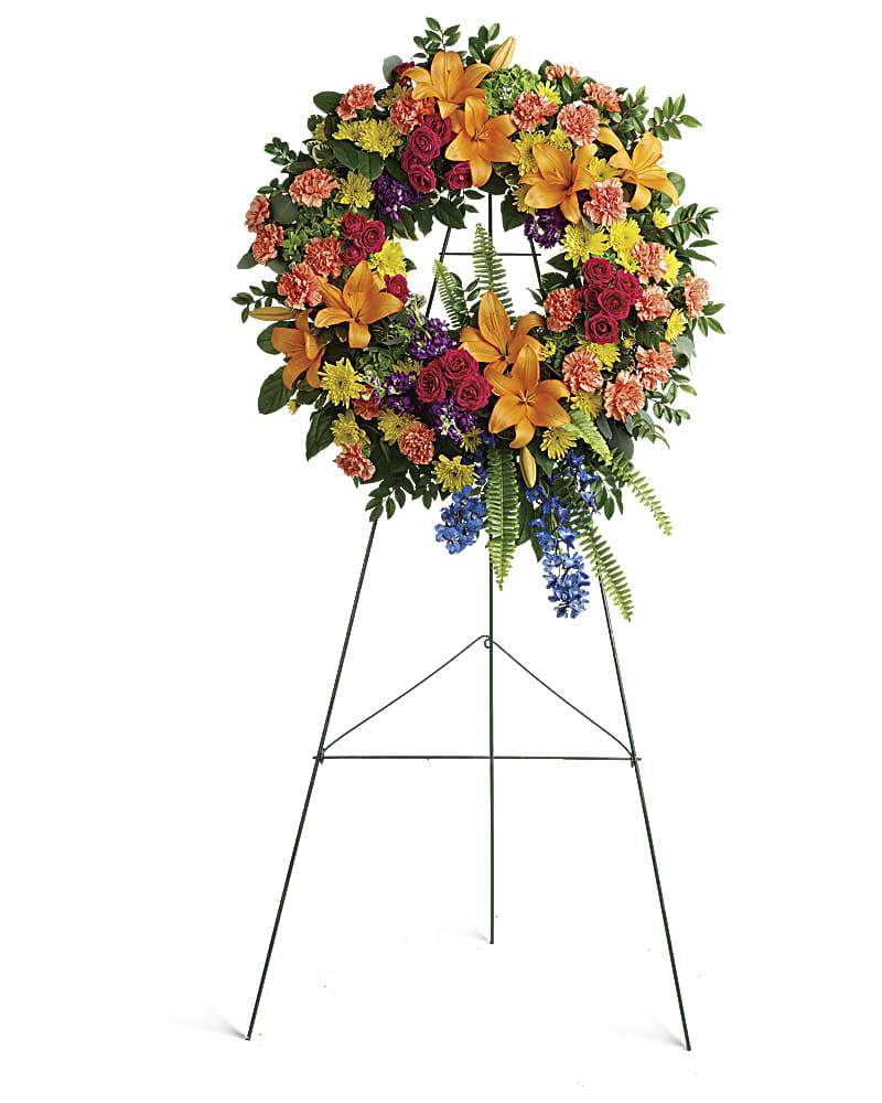 Colorful Serenity Wreath - Excellent Florists