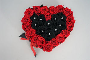 Heart Box Red & Black - Excellent Florists