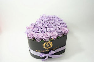 Heart Box Lavender - Excellent Florists