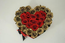 Load image into Gallery viewer, Heart Box Gold & Red - Excellent Florists