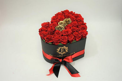 Heart Box Rose 1 - Excellent Florists