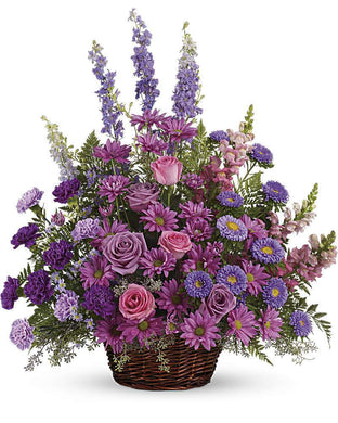 Gracious Lavender Basket - Excellent Florists