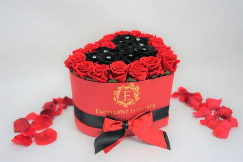 Heart Box Red & Black