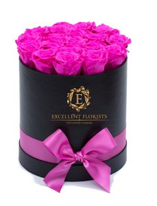Hot Pink Preserved Roses - Excellent Florists