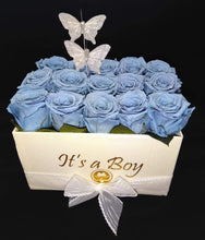 Load image into Gallery viewer, It´s a Boy Square Preserved Roses