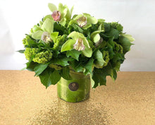 Load image into Gallery viewer, Green Cymbidium Orchid bouquet arrangement