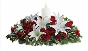 Christmas Lilies and Roses