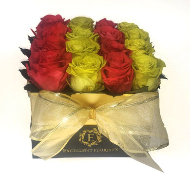 Medium Square Christmas Preserved Roses