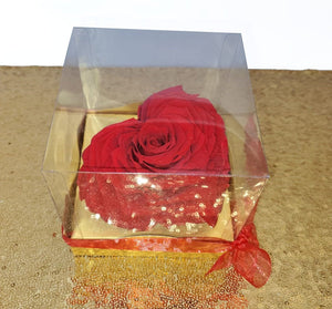 Red Heart in a Box  Preserved Rose