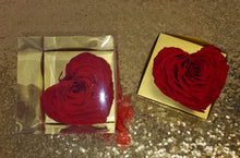 Load image into Gallery viewer, Red Heart in a Box  Preserved Rose