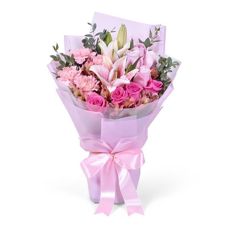 Pink Bouquet for Valentine´s day * VASE NOT INCLUDED