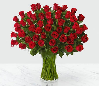 Fifty Roses in a Vase