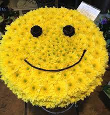 Happy Face 1 MEDIUM size natural flowers