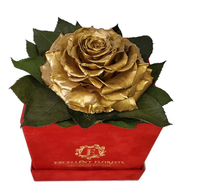 Golden preserved rose