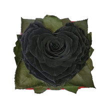 Load image into Gallery viewer, Black Heart shape preserved rose