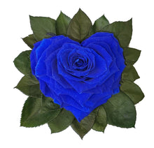 Load image into Gallery viewer, Blue Heart shape preserved rose