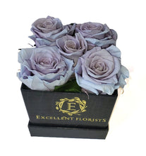Load image into Gallery viewer, Small Square Lavender Preserved Roses