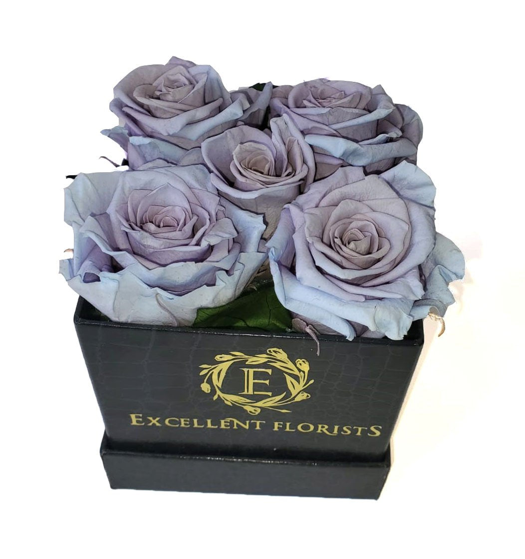 Small Square Lavender Preserved Roses