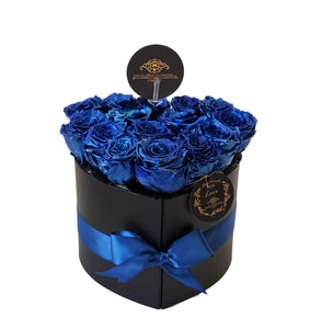 Small Blue Heart Preserved roses