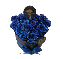 Load image into Gallery viewer, Small Blue Heart Preserved roses
