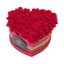 Load image into Gallery viewer, Heart Red Preserved Mini Rose Box promotion