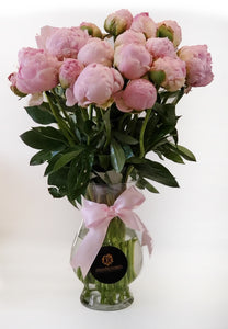 20 Pink  Peonies  Arrangement