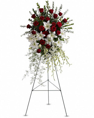 Lily and Rose Tribute Spray - Excellent Florists